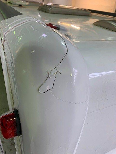 caravan rear panel cracked